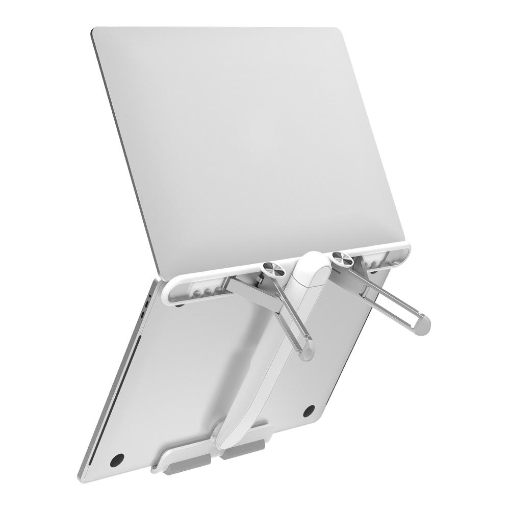 MOMAX Fold Stand 飛機造型折疊筆電支架(KH2)-白