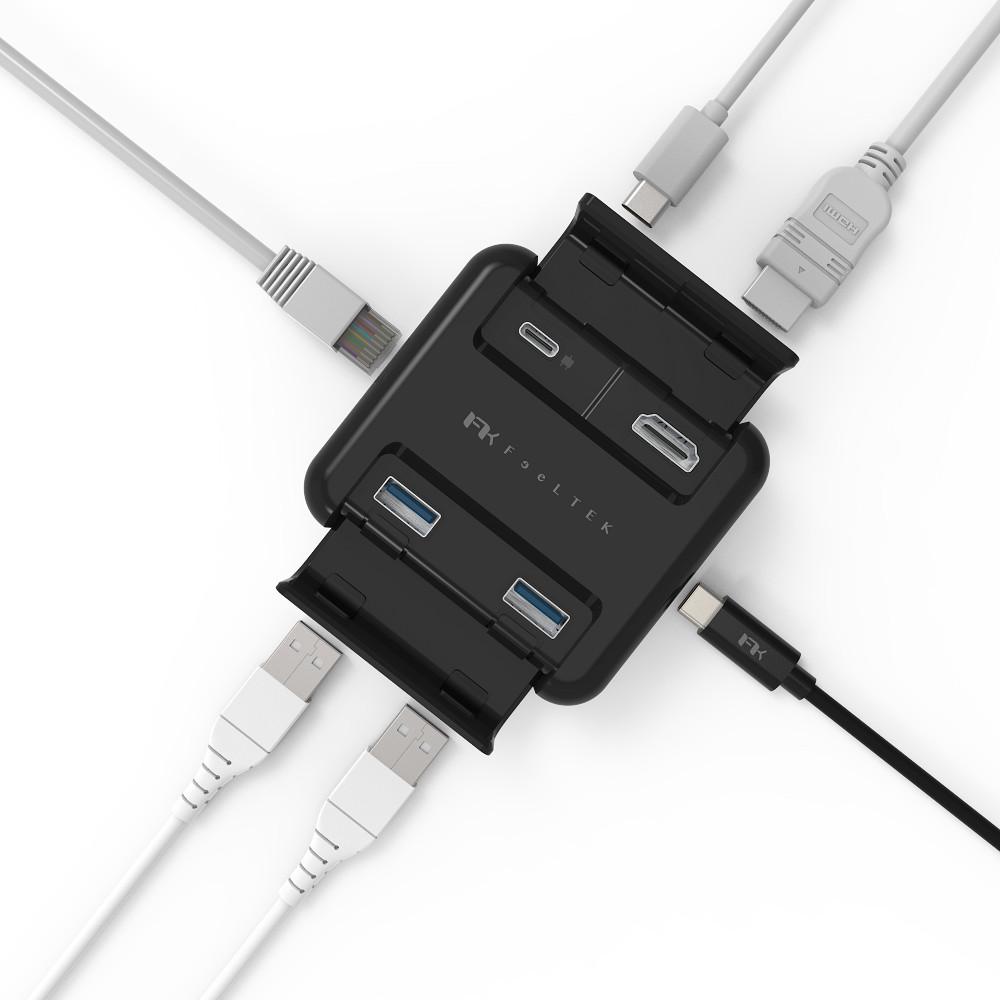Feeltek|Proxy 五合一 USB-C傳輸充電集線器