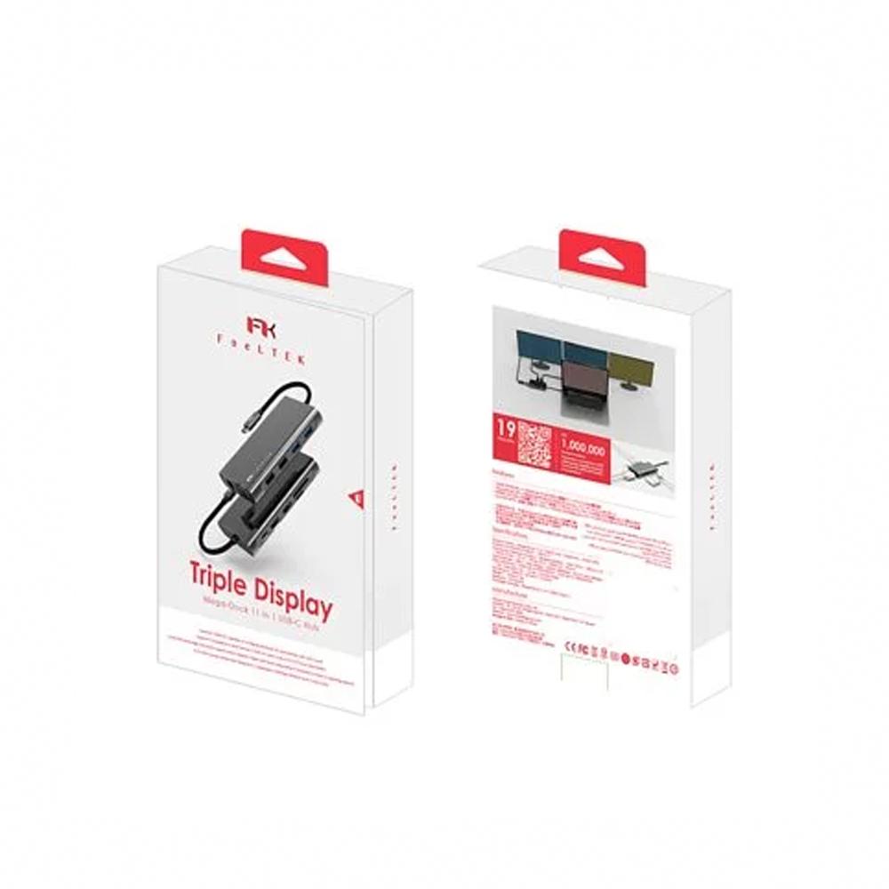 Feeltek Mega-Dock 11 in 1  USB-C 多功能集線器