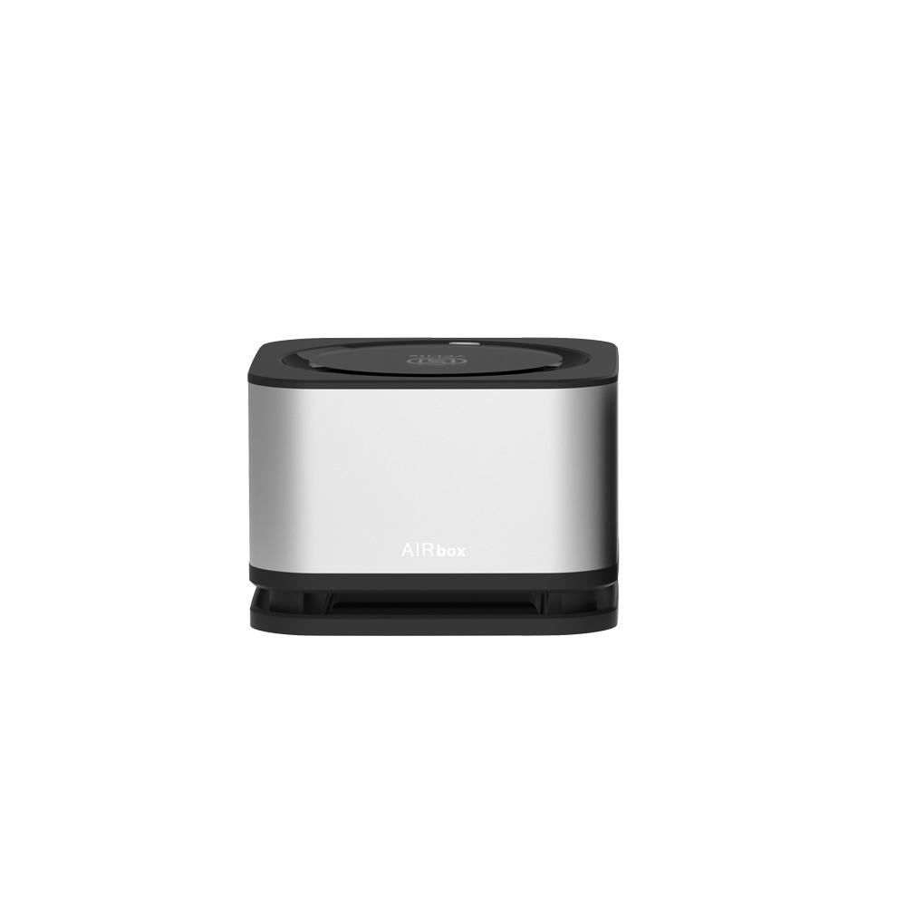YFLife 圓方生活 AIRbox 方塊舒 車用淨化器-極致黑、星鑽銀
