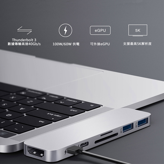 HyperDrive|7-in-2 (DUO) 集線器 USB-C Hub for MacBook Pro