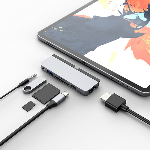 HyperDrive|6-in-1 USB-C Hub for iPad Pro 2018