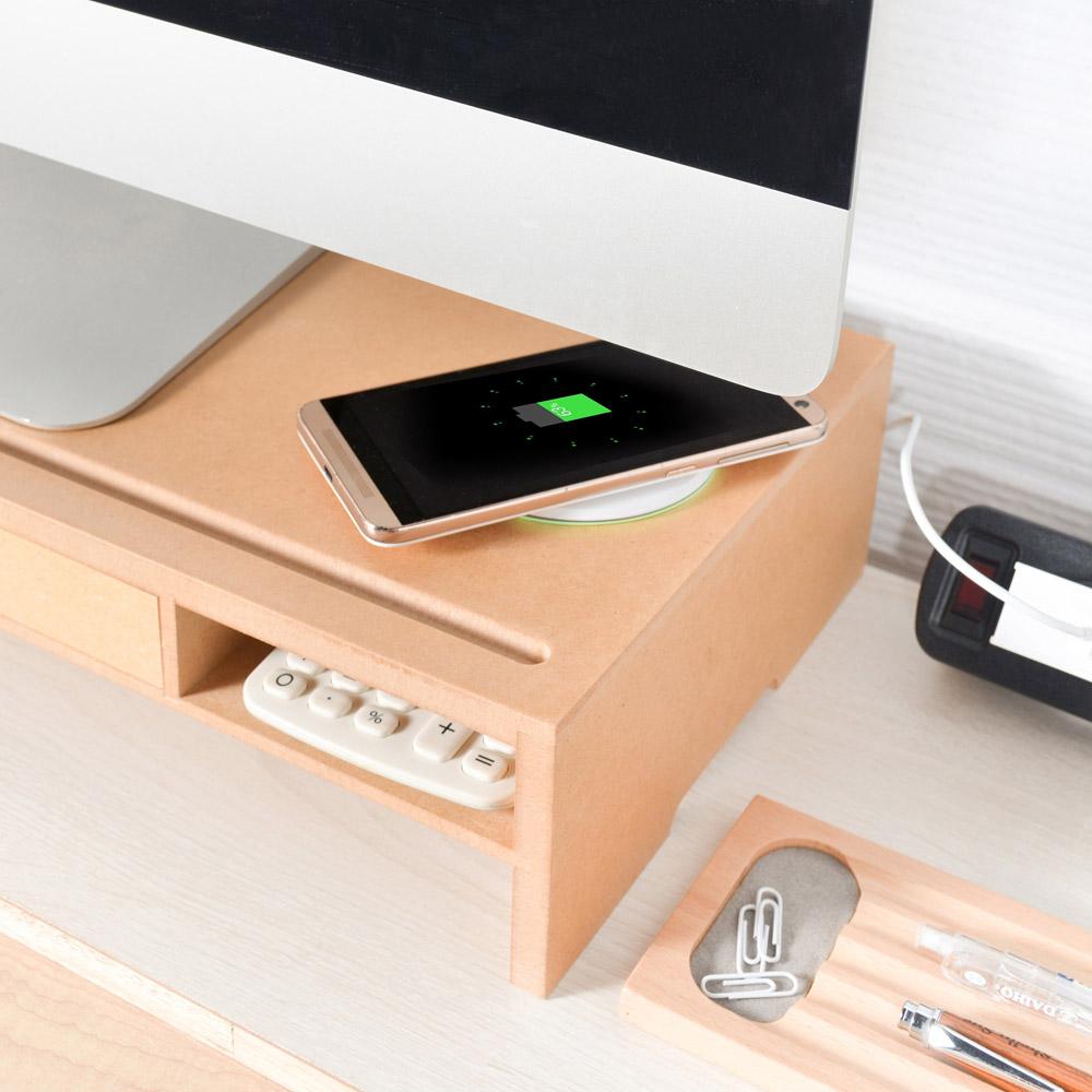 mifo Qi無線充電螢幕架(內含QC3快充頭+USB傳輸線)