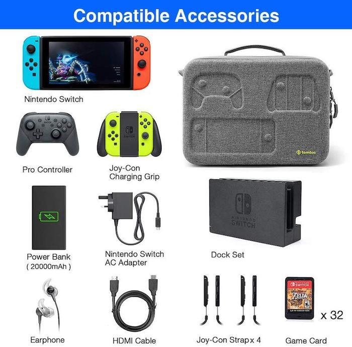 (複製)tomtoc | 玩家首選旅行包 (灰/適用Nintendo Switch)
