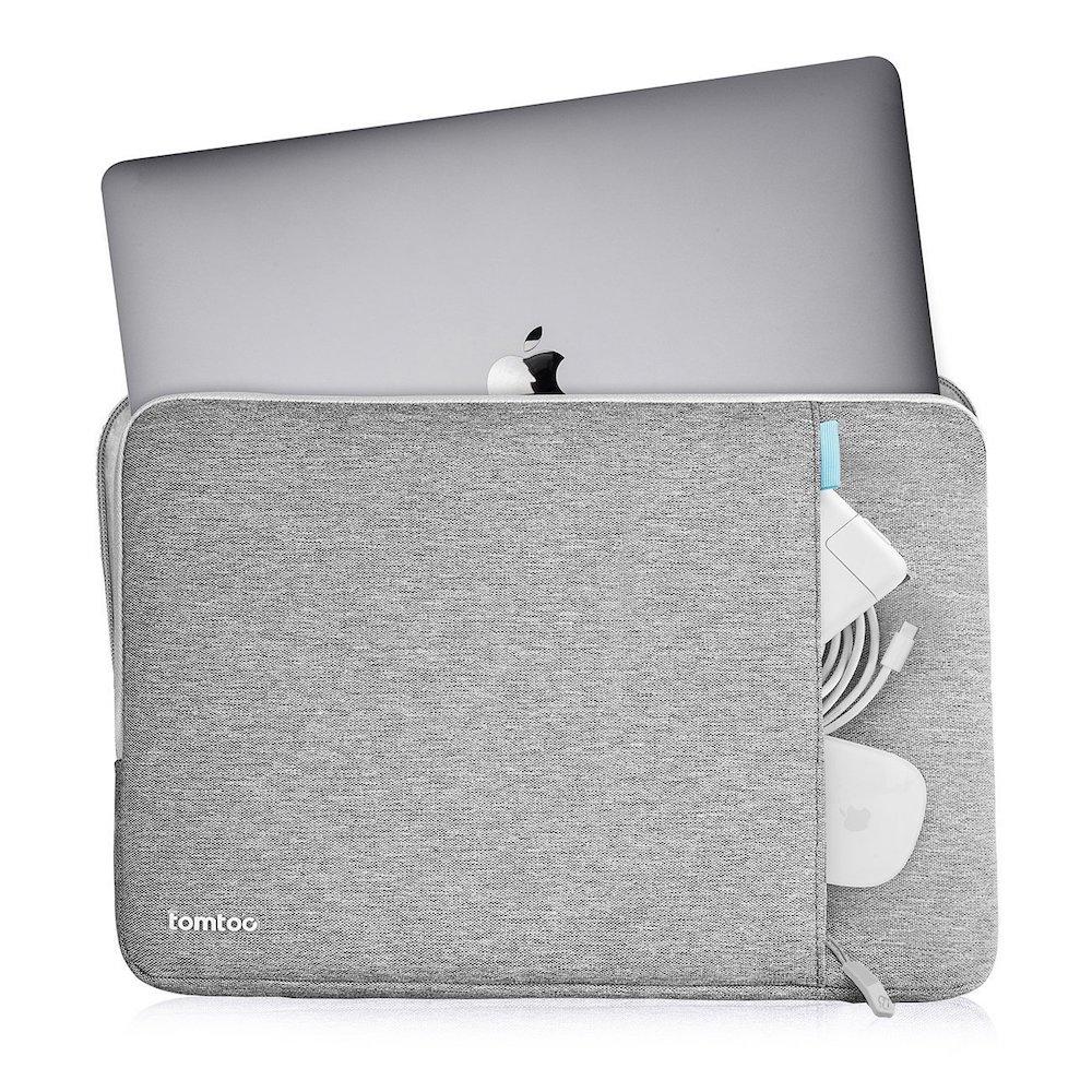 tomtoc | 360˚完全防護 (灰/適用13MacBook Pro 2016後/New MacBook Air Retina 2018後)