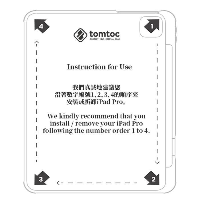 tomtoc|多角度折疊平板保護套 (紫/11吋iPad Pro 2021)