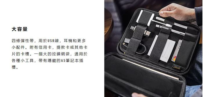 tomtoc | 多功能平板硬殼收納包 (灰/12.9吋iPad Pro)