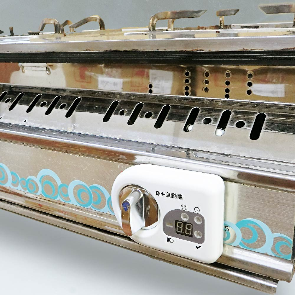 Yztek 耀主科技|E+自動關 瓦斯安全自動開關裝置-橫式【白/黑】適用於側面爐