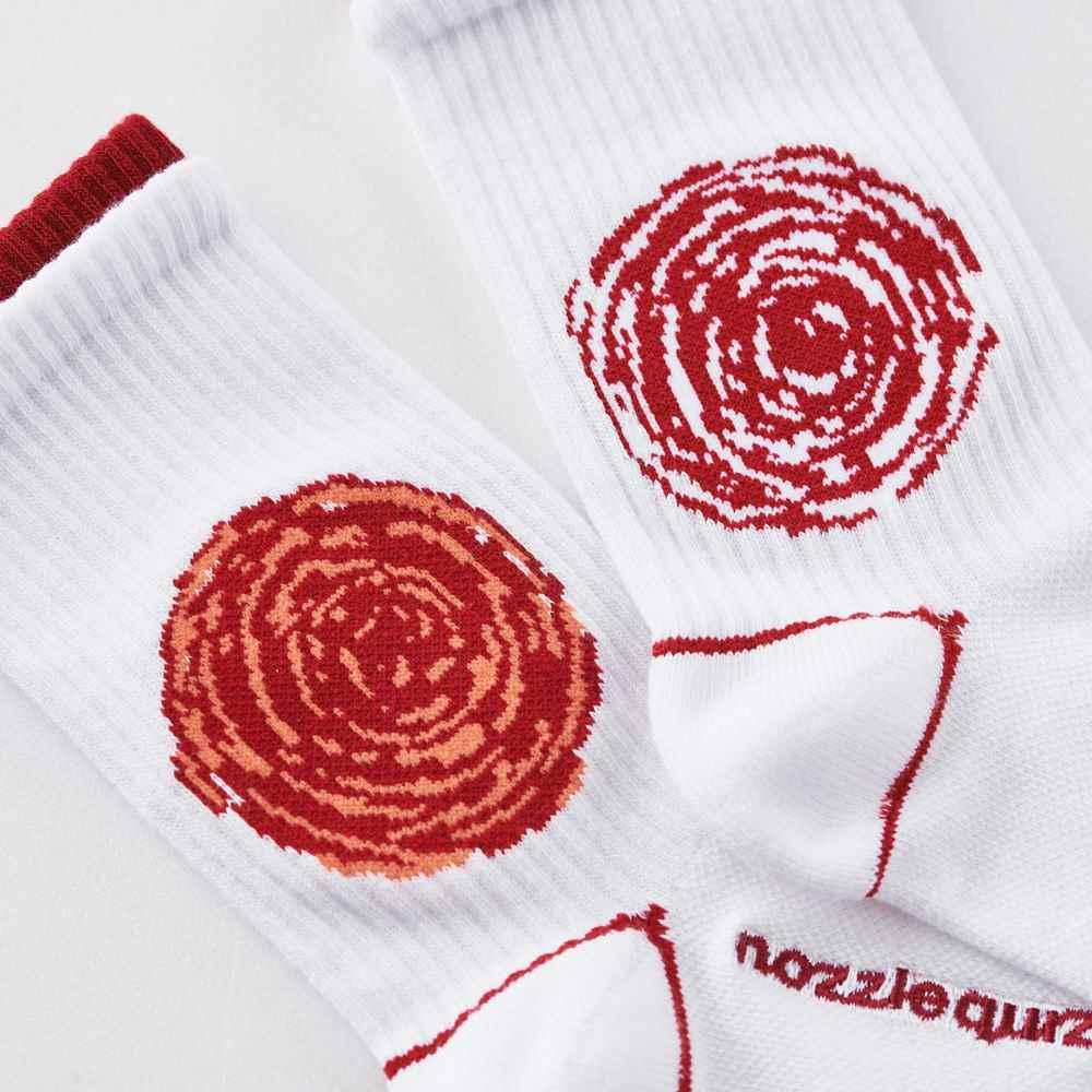 nozzle quiz│SPEED S2 中筒休閒襪 - 櫻白