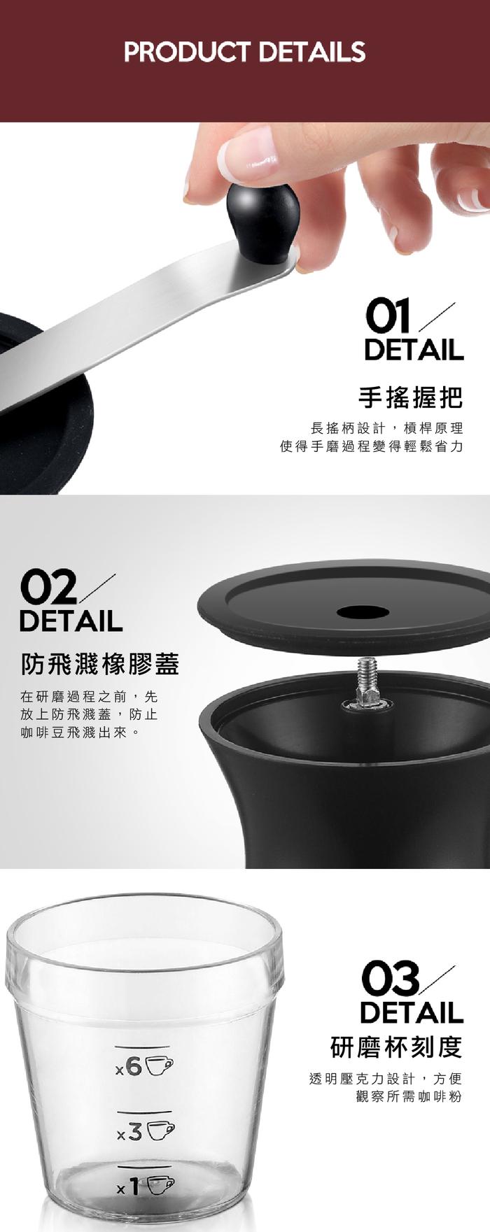 OSNER展悅國際 經典手搖磨豆機 KDL-903