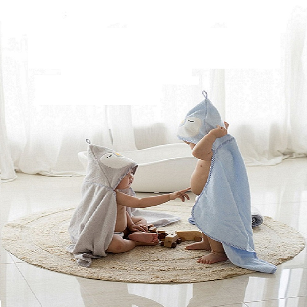 Hugpapa  |  企鵝連帽大浴巾