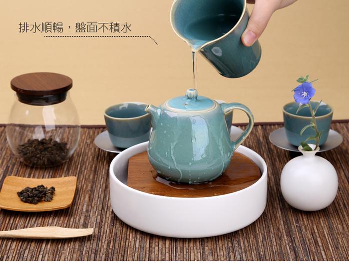 宜龍|築月水承茶盤