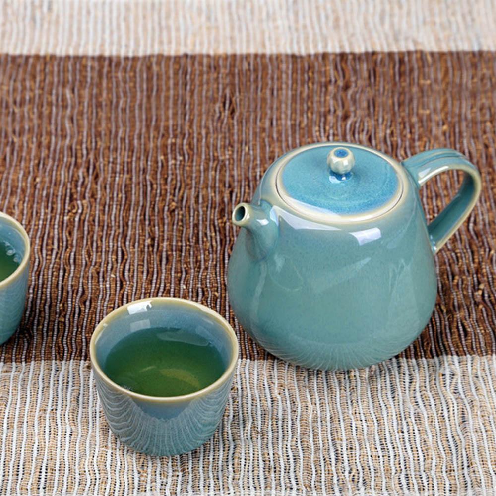 宜龍|綠兔毫釉3入禮盒(壺+2杯)
