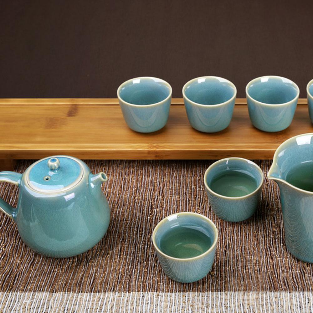 宜龍|綠兔毫釉8入禮盒(壺+海+6杯)
