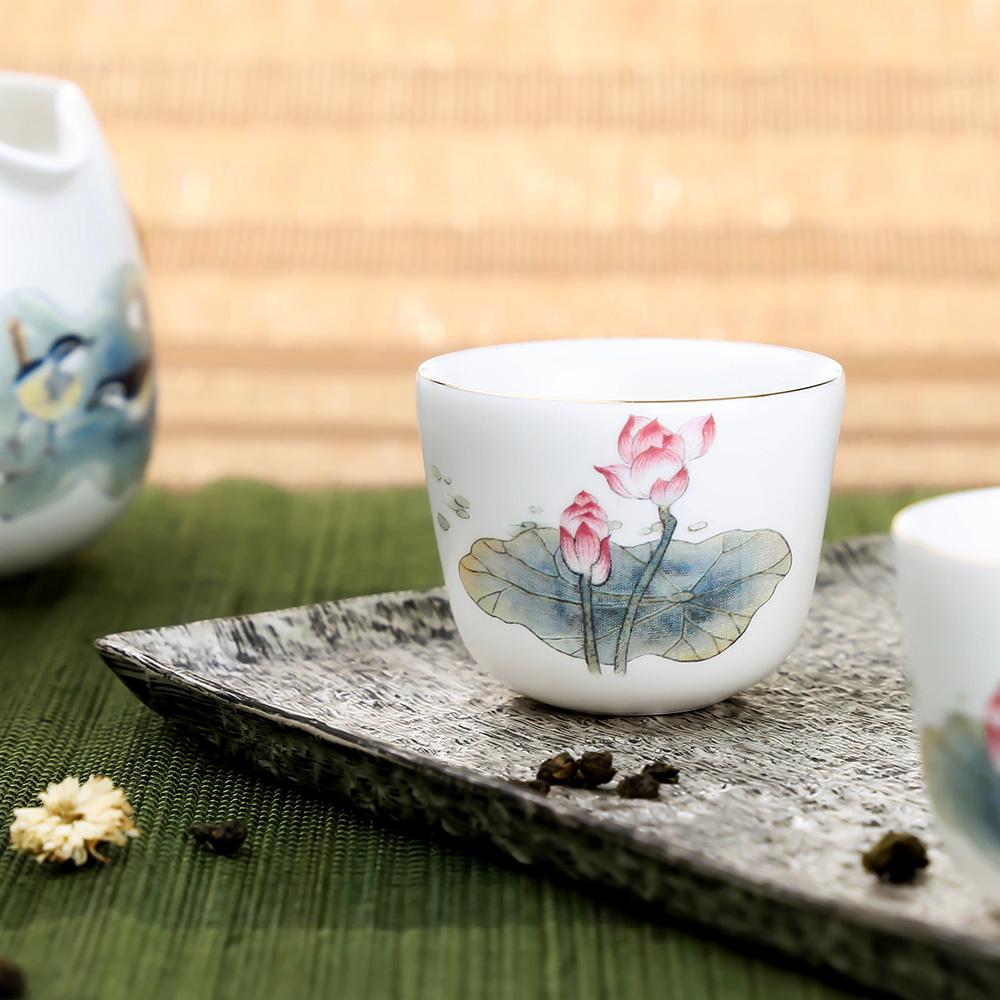 宜龍|荷塘趣(壺+海+6杯)8入禮盒