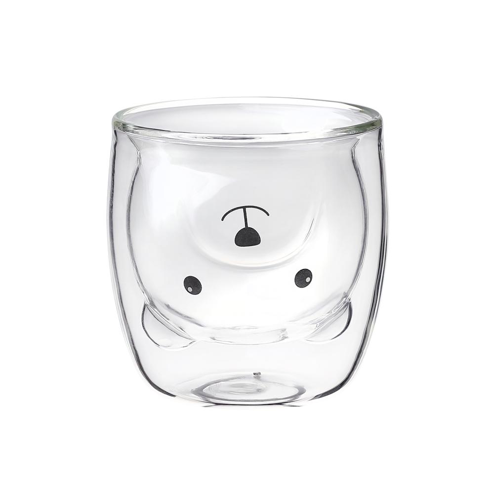 宜龍|雙層玻璃-透明熊熊杯(250ml)