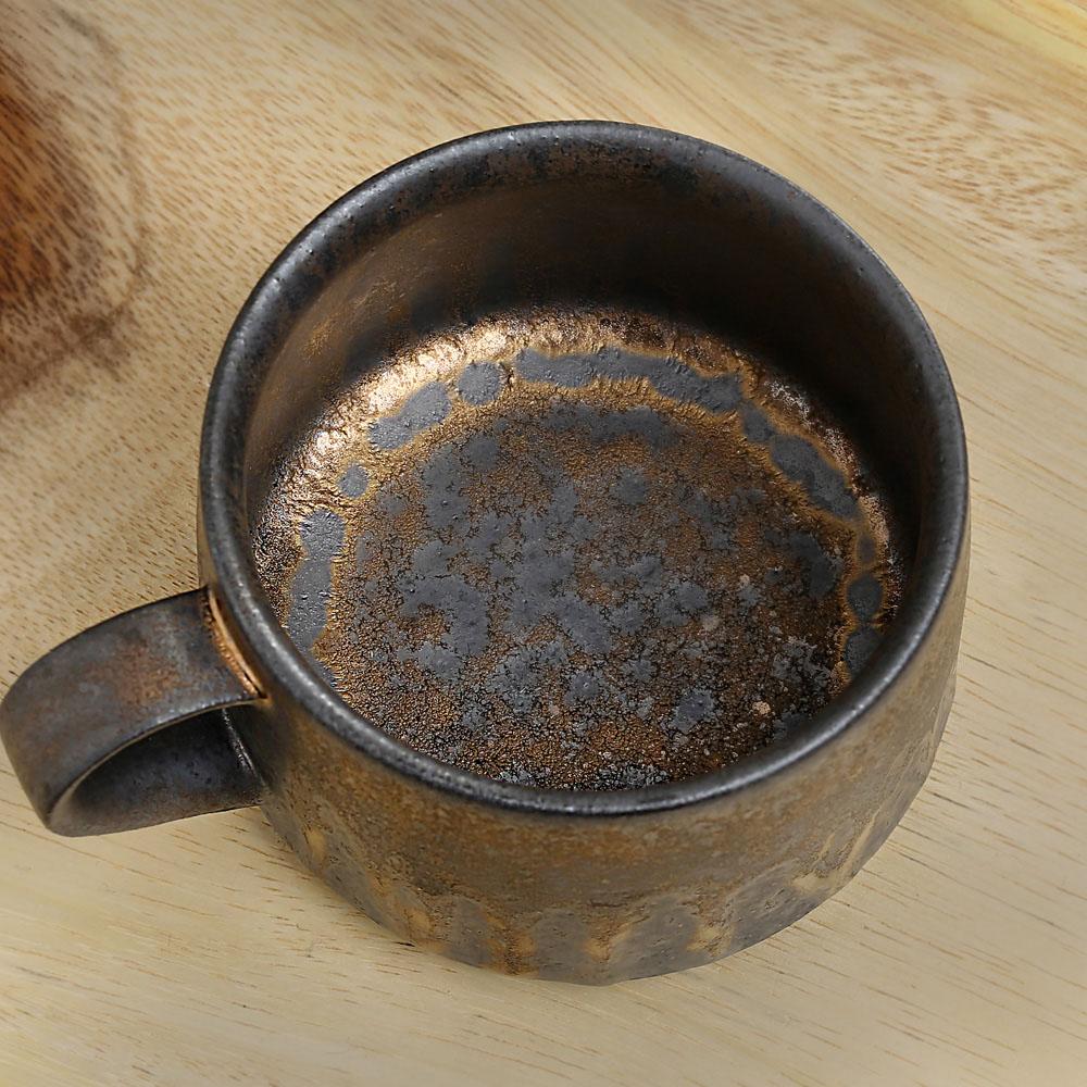 宜龍|黑鐵釉燧人咖啡杯碟(250ml)