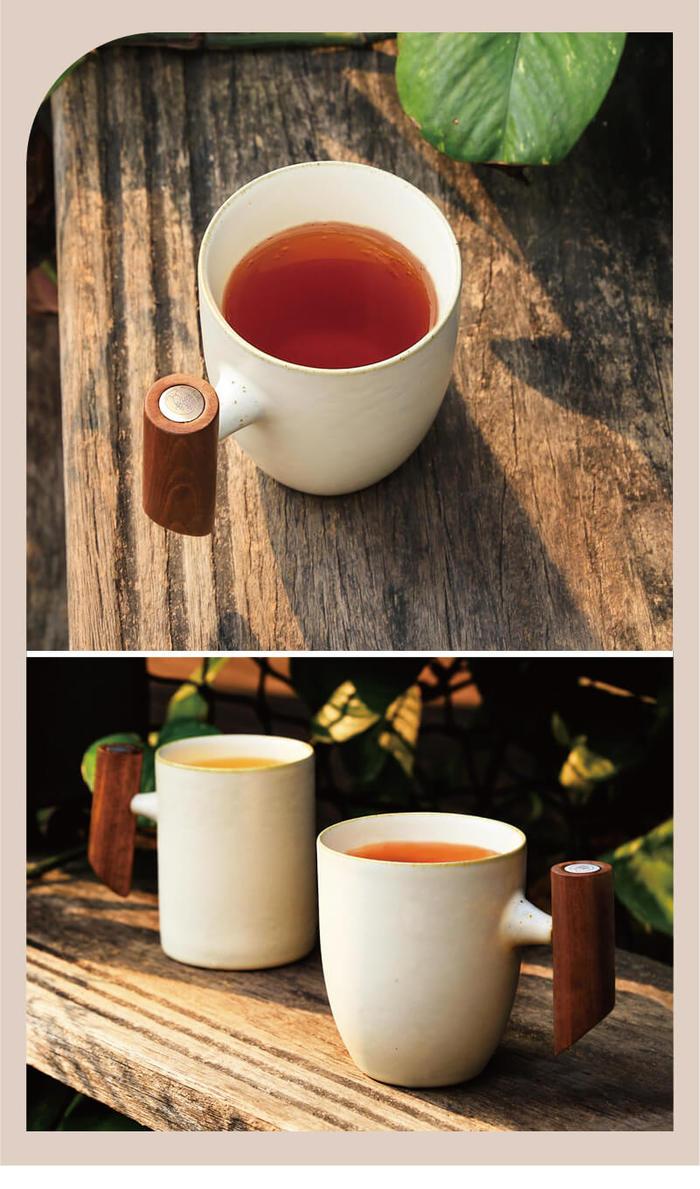 宜龍|汝黃釉直筒木把馬克杯(280ml)