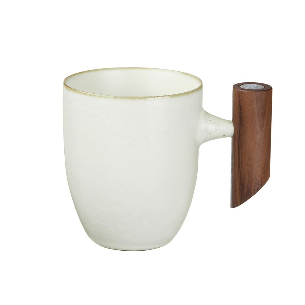 宜龍|汝黃釉復古木把馬克杯(280ml)