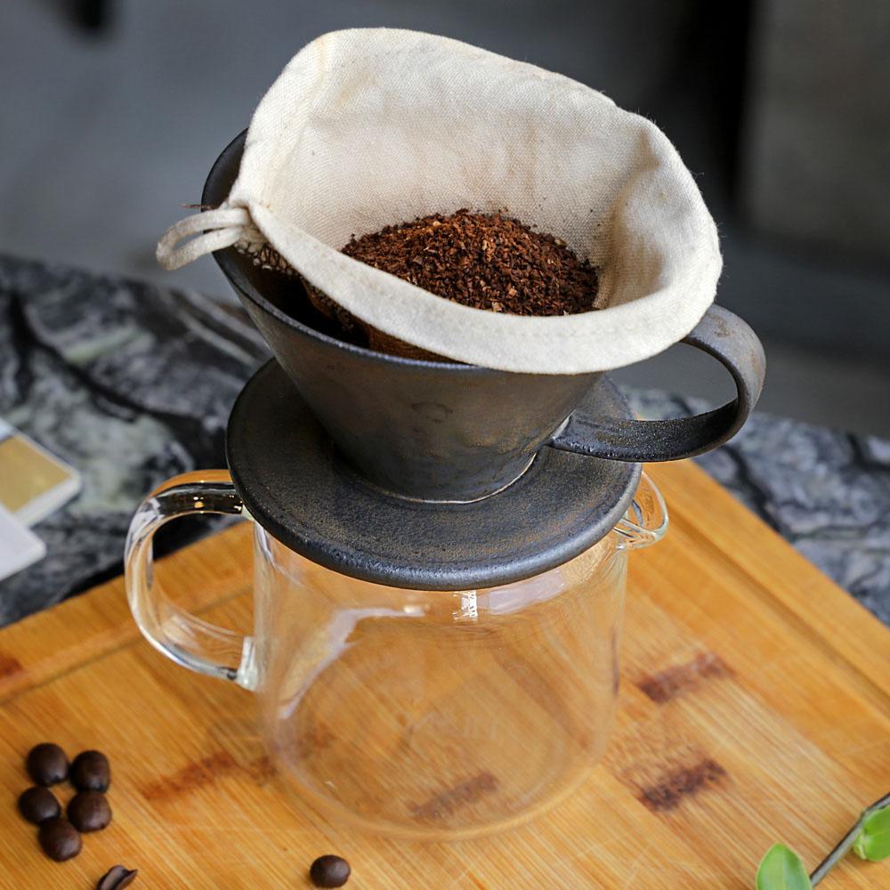 宜龍|黑鐵釉咖啡濾杯