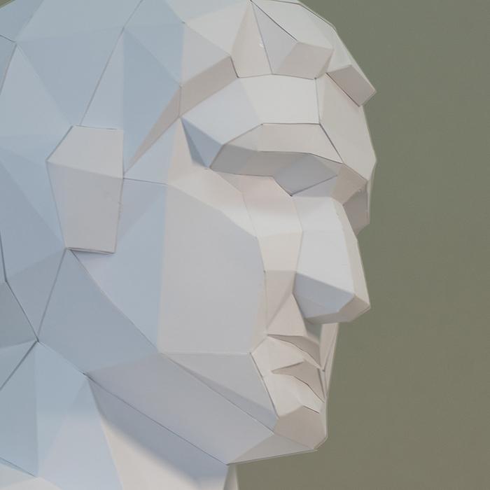 (複製)問創 Ask Creative|DIY手作3D紙模型擺飾 石膏像雕塑系列 - 維納斯角面 (3色可選)