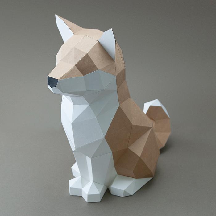 (複製)問創 Ask Creative DIY手作3D紙模型擺飾 狗狗系列 - 坐挺挺的拉布拉多 (4色可選)