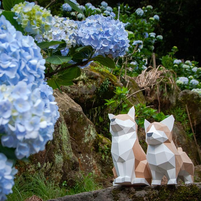 (複製)問創 Ask Creative|DIY手作3D紙模型擺飾 狗狗系列 - 傲嬌屬性柴柴  (4色可選)
