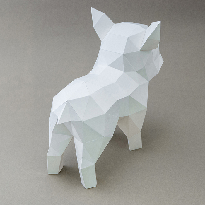 (複製)問創 Ask Creative|DIY手作3D紙模型擺飾 狗狗系列 - 坐挺挺的拉布拉多 (4色可選)