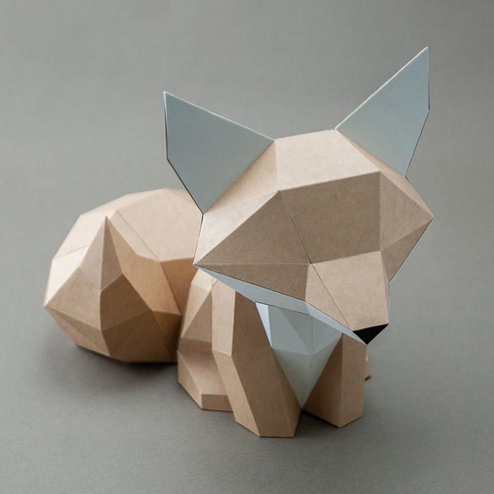 (複製)問創 Ask Creative|DIY手作3D紙模型擺飾 小動物系列 - 犰狳 (4色可選)