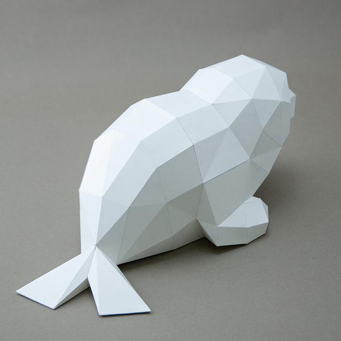 (複製)(複製)問創 Ask Creative|DIY手作3D紙模型擺飾 小動物系列 - 極地企鵝寶寶+加購冰山