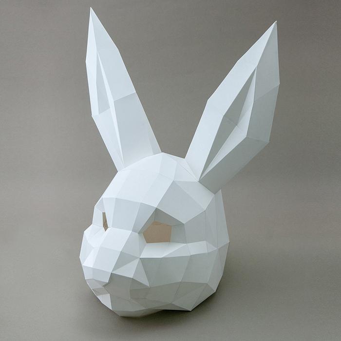 問創 Ask Creative|DIY手作3D紙模型擺飾 摩艾系列 - 呵呵摩艾 (4色可選)