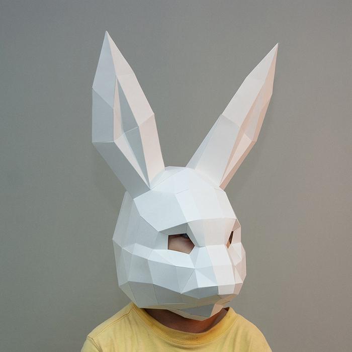 (複製)問創 Ask Creative|DIY手作3D紙模型擺飾 面具系列 - 兔子面具 (大人款) (4色可選)