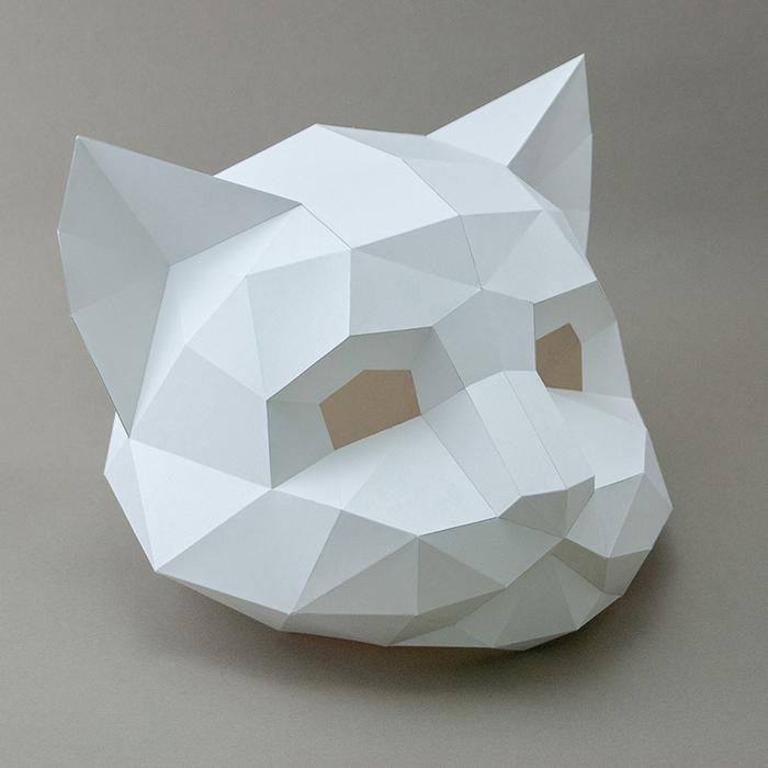 (複製)問創 Ask Creative|DIY手作3D紙模型擺飾 面具系列 - 兔子面具 (幼幼款) (4色可選)
