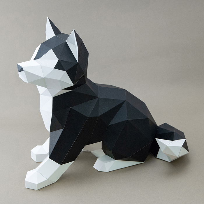 (複製)問創 Ask Creative|DIY手作3D紙模型擺飾 狗狗系列 - 短腿翹臀小柯基  (4色可選)