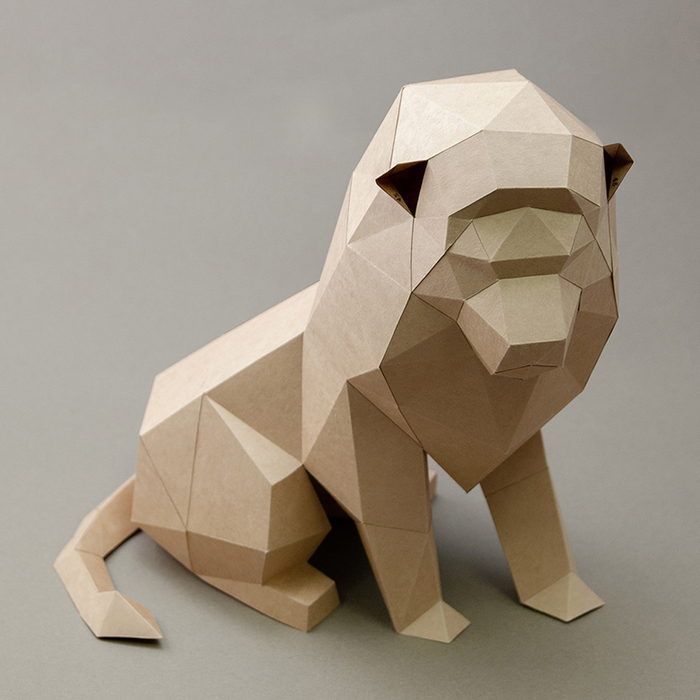 (複製)問創 Ask Creative|DIY手作3D紙模型擺飾 小動物系列 - 犀牛 (4色可選)