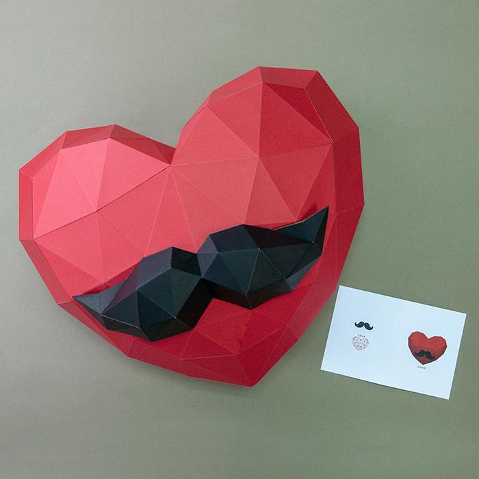(複製)問創 Ask Creative|DIY手作3D紙模型 禮物 掛飾 擺飾 節慶系列 - 鬍子壁飾