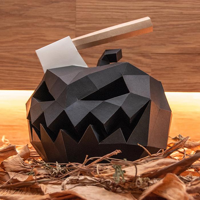 (複製)問創 Ask Creative|DIY手作3D紙模型 禮物 擺飾 節慶系列 - 惡魔南瓜