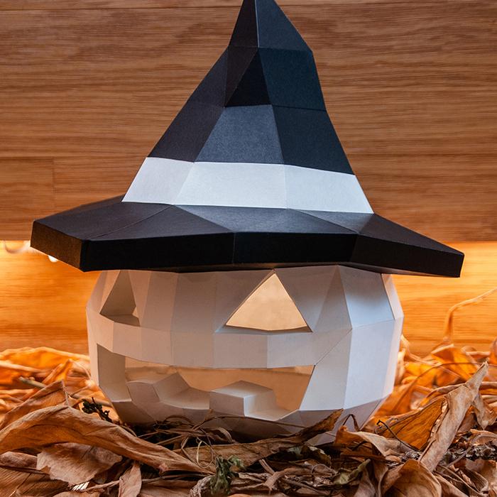 (複製)問創 Ask Creative|DIY手作3D紙模型 禮物 擺飾 節慶系列 - 斧頭南瓜