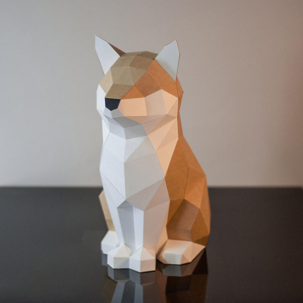 問創 Ask Creative DIY手作3D紙模型擺飾 狗狗系列 - 傲嬌屬性柴柴  (4色可選)