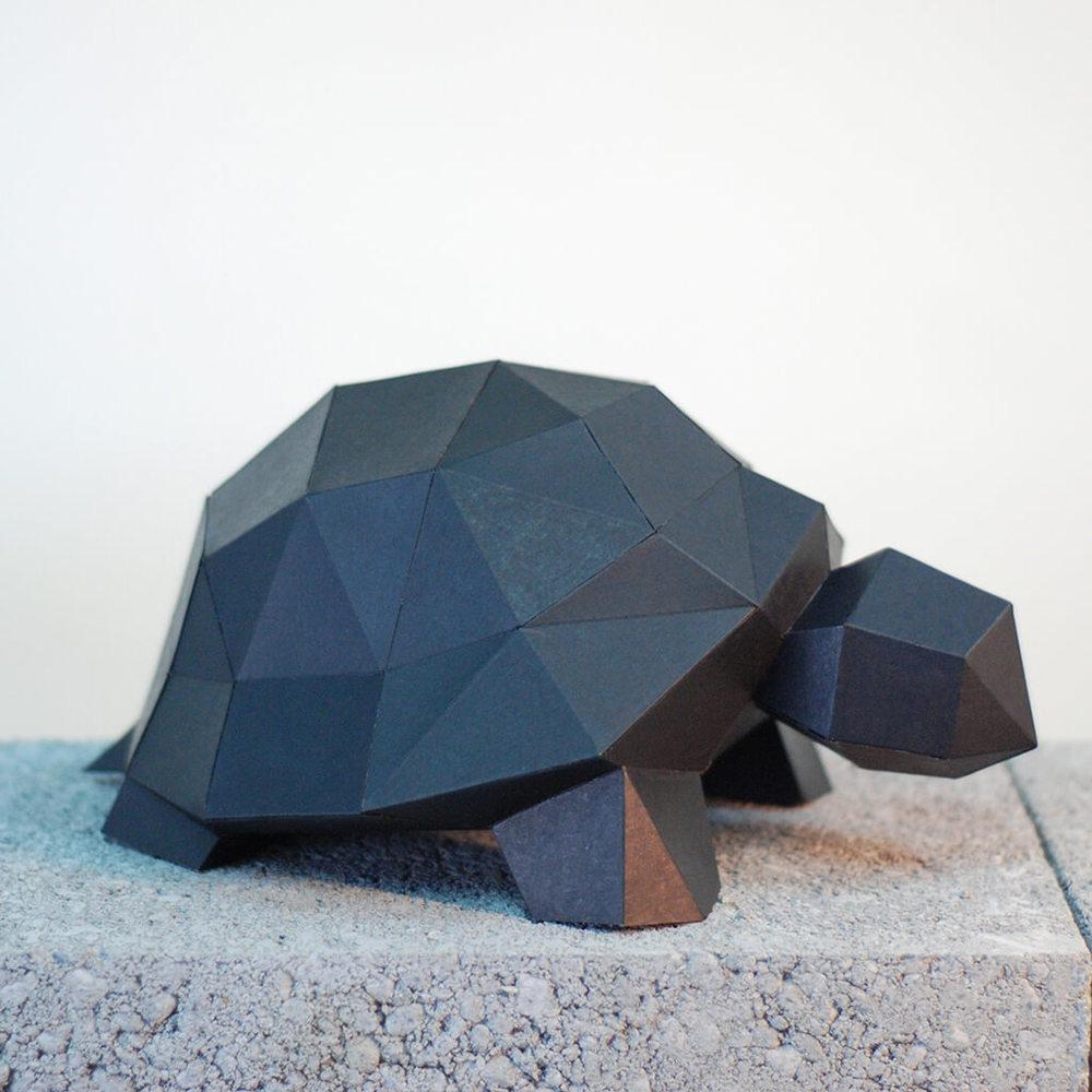 問創 Ask Creative|DIY手作3D紙模型擺飾 小動物系列 - 小烏龜 (4色可選)