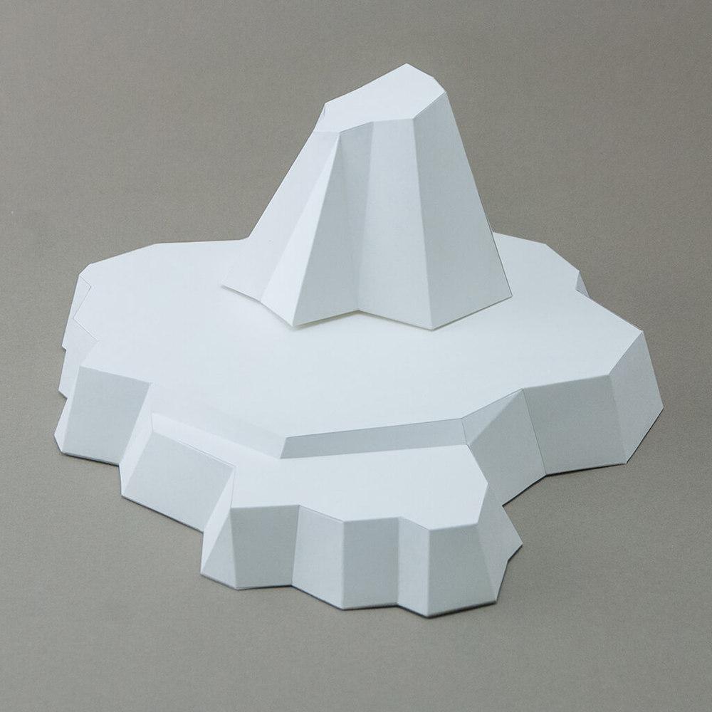 問創 Ask Creative|DIY手作3D紙模型擺飾 配件系列 - 極地冰山底座 (4色可選)