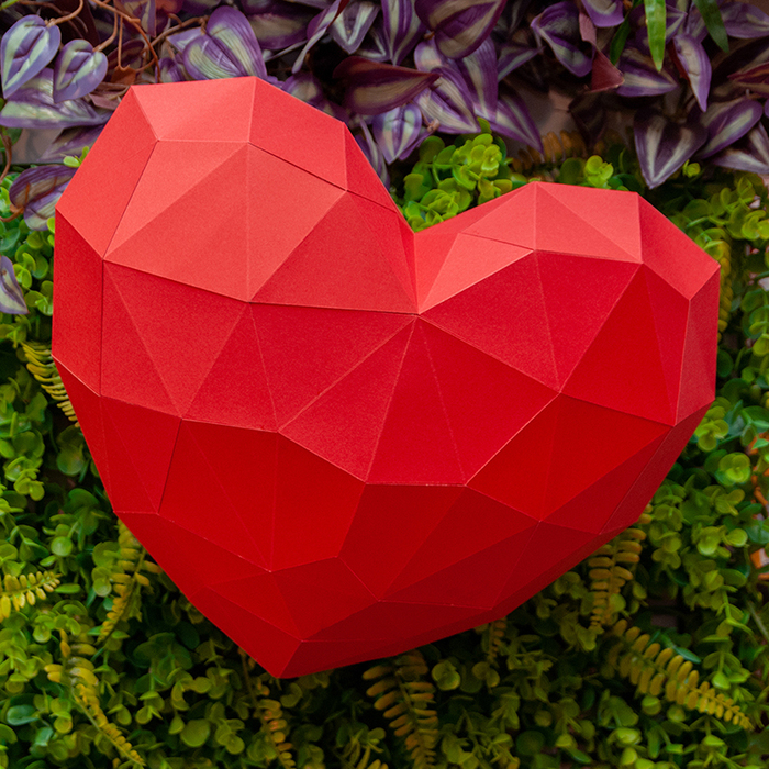 問創 Ask Creative DIY手作3D紙模型 禮物 掛飾 節慶系列 - 大愛心壁飾