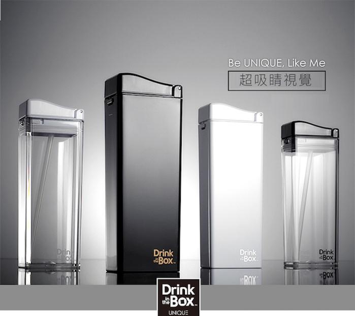 加拿大 Drink in the box|時尚戶外吸管水杯355ml-曜石黑