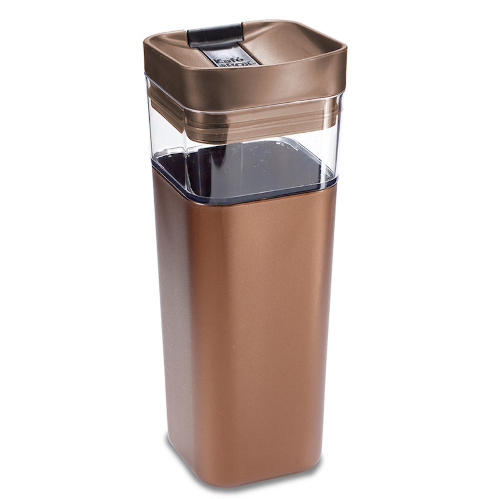加拿大kafe in the box|時尚雙層隔熱分享咖啡杯473ml-伯朗色