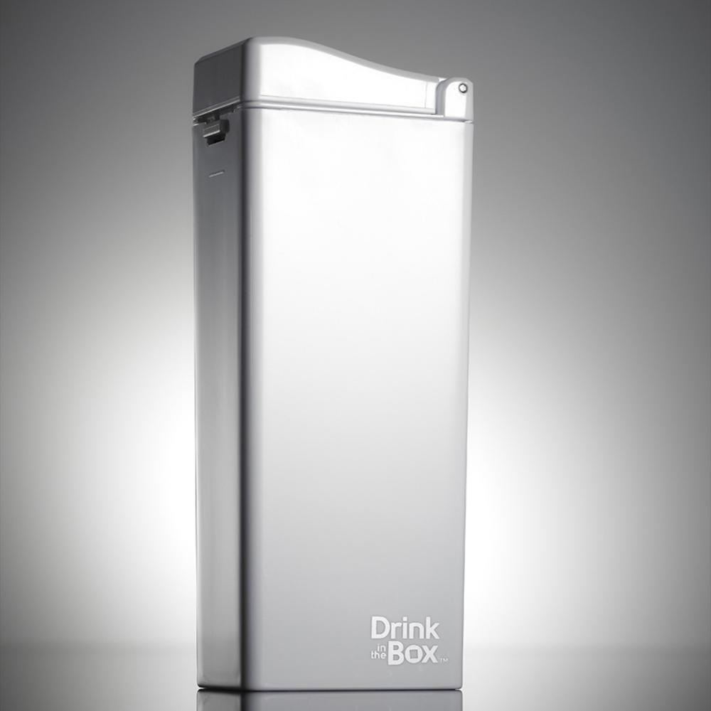 加拿大 Drink in the box|時尚戶外吸管水杯355ml-冰雪白