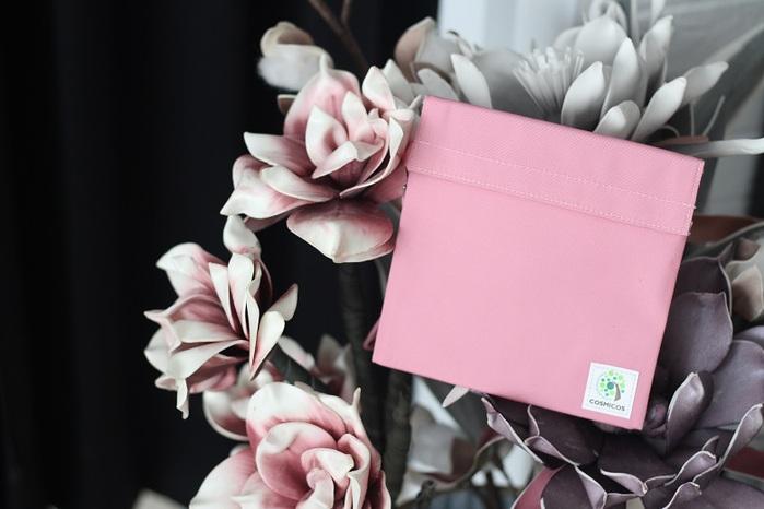 COSMICOS|粉紅 野玫瑰一朵 手提輕食袋《小》零食袋