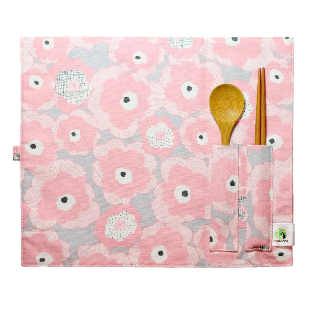 COSMICOS|紅粉佳人 環保餐墊&餐具袋(兩用)