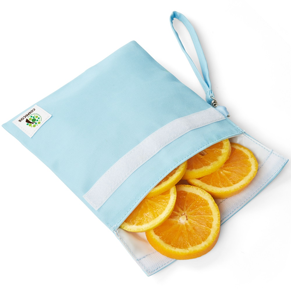 COSMICOS 粉藍 地球一顆 手提食物袋《小》