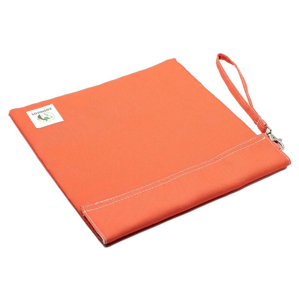 COSMICOS|海底絢彩一抹 珊瑚橘 手提環保購物袋《中》