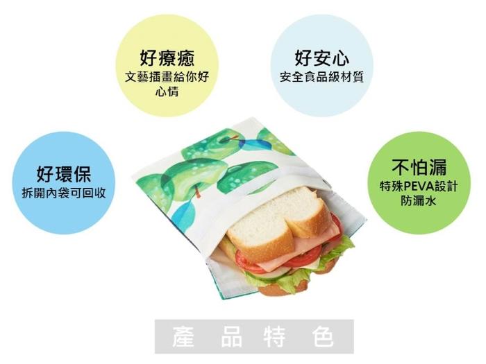 (複製)COSMICOS Mia 青蘋果吐司 輕食袋